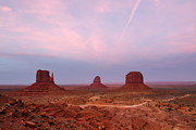 Road Travel Framed Prints - Monument Valley Framed Print by Anne Clements