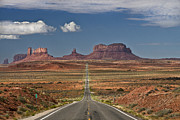 Road Travel Framed Prints - Monument Valley Framed Print by Axel Rosenberg