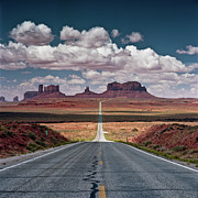 Road Posters - Monument Valley Poster by BrusselsImages