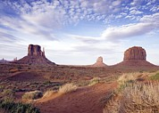 Landforms Posters - Monument Valley Is Within The Navajo Poster by Everett