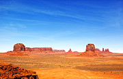 Mountain Valley Framed Prints - Monument Valley Landscape Framed Print by Jane Rix
