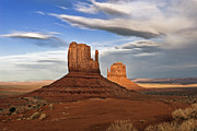 Arizona Photo Framed Prints - Monument Valley Mittens Framed Print by Peter Tellone