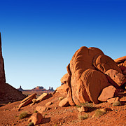 Western Usa Posters - Monument Valley rocks Poster by Jane Rix