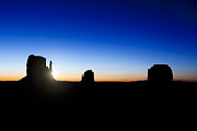 Mountain View Photos - Monument valley sunrise by Jane Rix