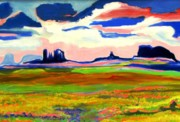 Yello Paintings - Monument Valley Sunrise by Peter Jay Klocksien