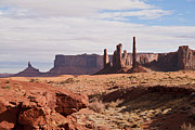 Monument Valley Framed Prints - Monument Valley Totem Pole Framed Print by Mike Herdering