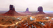 John Wayne Paintings - Monument Valley Winter  by Nadine and Bob Johnston