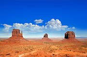 Heat Photo Prints - Monument Vally Buttes Print by Jane Rix