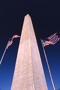 National Mall Framed Prints - Monumental Flags Framed Print by Skip Willits