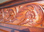 Presidential Mixed Media - Monumental Renaissance Revival Carving - Restored by Halo Tlc