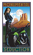 Two Wheeler Digital Art - Monumental Seduction full color by Steven Schader