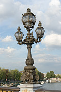 Candelabra Metal Prints - Monumental street lamp Metal Print by Fabrizio Ruggeri
