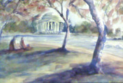 Tidal Basin Paintings - Monuments in Bloom by Julie Morrison