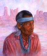 Indian Pastels Prints - Monuments of Time Print by Ann Peck