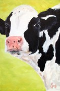 Moo Moo Paintings - Moo by Judy Pimperl