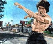 Bruce Painting Prints - Moo Shu Jeet Kune Do Print by Thomas Weeks