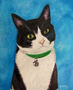 Paintings by Gretzky - Moo The Cat