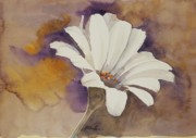 Mood Painting Prints - Mood Flower Print by Gretchen Bjornson