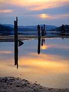 Pilings Photos - Mood on the Bay by Idaho Scenic Images Linda Lantzy