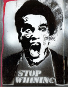 Yelling Mixed Media Prints - Mood Police Print by Robert Wolverton Jr