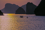 Ha Long Posters - Moods Ha Long Bay Poster by Chuck Kuhn
