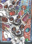 Chihuahua Abstract Art Posters - Moodswings Poster by Robert Wolverton Jr