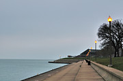 Moody And Lonely Lakefront Print by Bruce Leighty