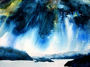 Fjord Paintings - Moody Blue by Karen A Robinson