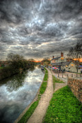 Inn River Framed Prints - Moody Sunset At The Boat Inn Framed Print by Yhun Suarez