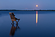 Peaceful Scenery Posters - Moon Boots Poster by Gert Lavsen