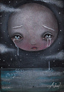 Sad Moon Posters - Moon Boy Poster by  Abril Andrade Griffith