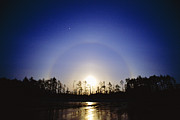 Refracting Light Prints - Moon Dog Print by David Nunuk