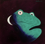 Space Paintings - Moon Frog by Ben Benfield