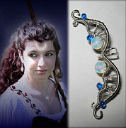 Moon Jewelry - Moon Goddess ear cuff by Dacian Moon
