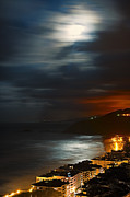 Sea Moon Full Moon Photo Posters - Moon light Poster by Inhar Mutiozabal