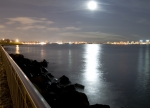 Nyc Photos - Moon Light by Svetlana Sewell