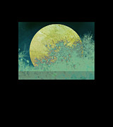 Moon Digital Art Metal Prints - Moon Magic Metal Print by Ann Powell