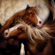 Horse Art Art - Moon Mates by Carol Cavalaris