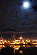 Terminal Prints - Moon Over Fishermans Terminal Print by Alasdair Turner