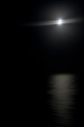 Moonlit Night Photos - Moon Over Gulf of Mexico by Gwen Vann-Horn