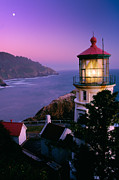 Lead Prints - Moon over Heceta Head Print by Inge Johnsson