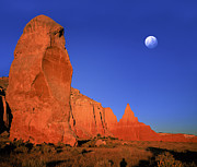 Stock Photo Digital Art - Moon Over Kodakchrome State Park Utah by Daniel Chui