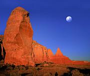 Moon Over Kodakchrome State Park Utah Print by Daniel Chui