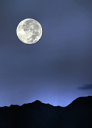 Hawaii Photos - Moon over Koolau by Dan McManus