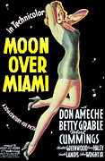 Pin-up Girl Posters - Moon Over Miami, Betty Grable, 1941 Poster by Everett