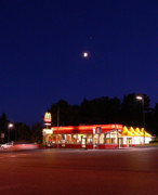 Mcdonalds Art - Moon over Mickeys by David Bearden
