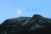 Mansfield Prints - Moon over Mount Mansfield Print by John Burk