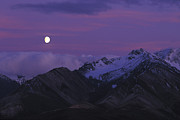 Yukon Territory Framed Prints - Moon Over Mountains Framed Print by Nick Norman