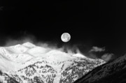 Full Moon Prints - Moon over the Alps Print by Silvia Ganora