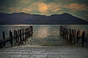 Lake Tapestries Textiles - Moon Over The Lake by Joana Kruse